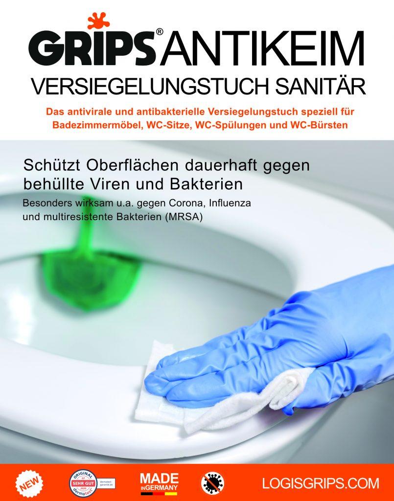 Grips Antikeimversiegelungstuch Sanitär